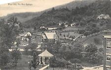 Hot Springs Virginia~Birdseye Panorama West Hill~Gazabo~Homes~1908 B&W Postcard