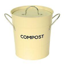Crème compost caddy avec bac intérieur-cuisine composteur de-métal seau