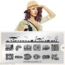 MoYou London EXPLORER 23 Collection Stamping Schablone, Safari Giraffe