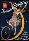 "VINTAGE Bicycle Advertising Poster CANVAS ART PRINT 16""X 12"""