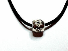 925 Sterling Silver Slide Pendant Cz Onyx Accent-9mm REDUCED PRICE