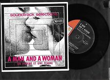 """Francis Lai - A Man And A Woman, mono EP - 7"""" picture sleeve single 45rpm"""