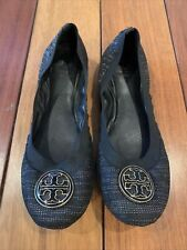Tory Burch Black And Gold Knit Ballet Flats Size 9M