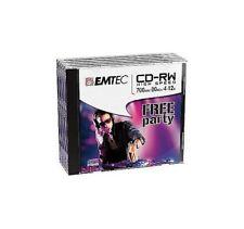 EMTEC ECOCRW80512JC CD-RW HIG SPEED 700MB 80MIN 4-12X (5 PEZZI)