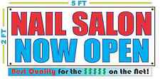 NAIL SALON NOW OPEN Banner Sign NEW Larger Size Best Quality for the $$$