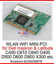 Wlan - Card Dell Latitude C400 C610 D400 D500 D600 D800 X300 Bcm4306kfb #J15