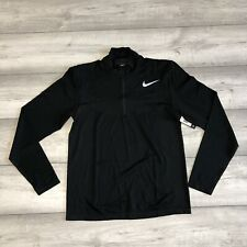 NIKE GOLF DRI-FIT KNIT ZIP BLACK SIZE LARGE 833280-010