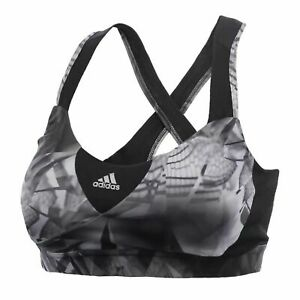 Adidas Womens Supernova Sports Bra Graphic Gym Crop Top AX5910