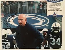 JAMES FRANKLIN SIGNED PENN STATE NITTANY LIONS 8x10 PHOTO BECKETT BAS COA D32868