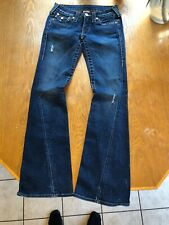 TRUE RELIGION JOEY FLARE DESTROYED JEANS sz 26 AUTHENTIC GREAT Shape