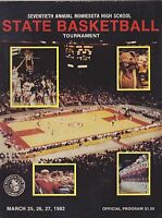 1982 70th MINNESOTA high school tournament basketball program