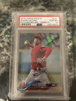 2018 Topps Update Shohei Ohtani RC #US1 RAINBOW FOIL Los Angeles Angels PSA 10