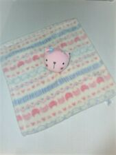 Baby Gear Pink Kitty Cat Plush Fleece Security Blanket Soft Girl Lovey Toy