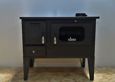 Woodburning Cooking Stove Oven  Solid Fuel Cooker Top Flue 7,5 kw Glass Legs