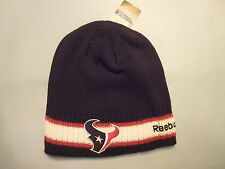 HOUSTON TEXANS Reebok NFL Team Apparel HEAVY KNIT WINTER HAT  Fits All Sizes NWT
