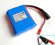 Li-ion 18650 11.1V 2600mAh Battery by Sanyo cell for Portable CCTV Cam Monitor