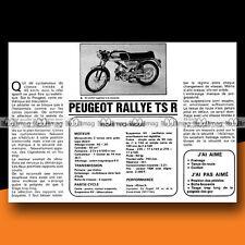 ★ PEUGEOT 50 RALLYE TSR ★ 1974 Essai Cyclo Sport / Original Road Test #c5