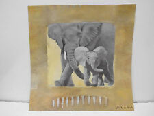 Anita de Harde - Afrika / Elefanten - 30 x 30 cm      (1301)