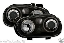 2 FEUX PHARE AVANT ANGEL EYES NOIR VW GOLF 4 SDI 1.9 TDI 1.4 1.6 1.8T GTI