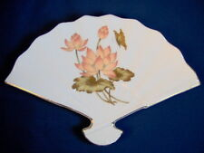 Beautiful Vintage Fan Shaped Porcelain Dish - Made in Japan - Mint Condition