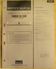 Sansui SE-500 Stereo Graphic Equalizer Service Manual vtg Repair Information