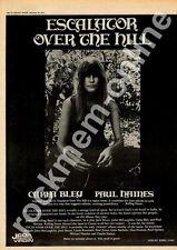 Carla Bley Paul Haines Escalator Over The Hill Advert 28/9/74