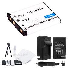 NP-45 Battery + Charger + BONUS for FujiFilm FinePix Z30 Z30WP Z31 Z33 Z33WP Z35