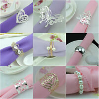10-12pcs/Set Napkin Rings Handmade Serviette Buckle Holder For Wedding Dinner