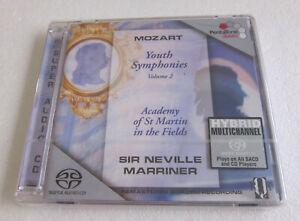 MARRINER / MOZART YOUTH SYMPHONIES Vol.2 / CD BRAND NEW (SEALED) SACD