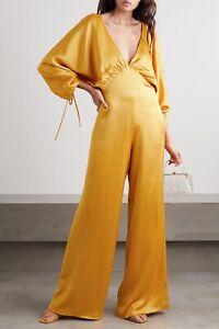 BNWT Vanessa Cocchiaro The Wu Mustard Yellow Jumpsuit Size 42 UK 14 RRP £600