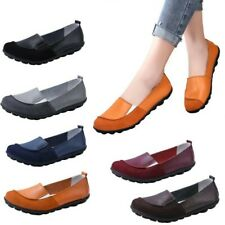 New Casual Womens Pumps Boat Casual Round Toe Pull On Flat Driving Shoes 35/42 B