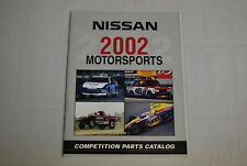 2002 NISMO Nissan Motorsports Competition Parts Catalog Book All Models Datsun