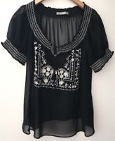 Ladies M&S Black Top Size 12 <NZ151