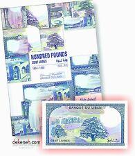 2016 NEW Album for Lebanese banknotes 100 Livres 1964 - 1988 Lebanon Libano