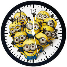 Cute Funny Minions Black Frame Wall Clock Nice For Decor or Gifts E52