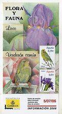 España Flora y Fauna Lirio y Verderon año 2006 (CX-81)