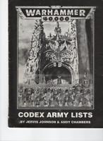 Games Workshop Warhammer 40,000 40K - Codex Army Lists 1990s Booklet Book