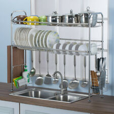 Stainless Steel Dish Rack Over The Sink Dish Drying Rack Holder Drainer Organize