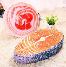 Hot Japan Food Salmon Sushi Plush Pillow Cushion Doll Toy Gift Home Office Decor
