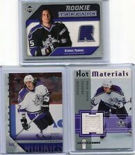 05-06  George Parros  3 Cards Lot  Young Guns + Rookie Threads Jsy + Jersey HP