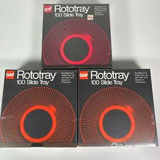 GAF Factory Sealed 100 2X2 Slides Projector Rototray Slide Tray Lot Of 3 New NIP