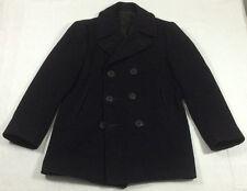 Vintage Naval CLOTHING SUPPLY OFFICE Navy Heavy Wool Peacoat Named Coat sz 38