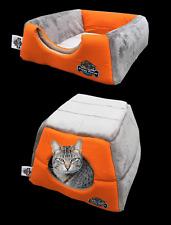 Orange Cat Kitten Cave, Puppy Dog, Pet Igloo, Cat Basket, Pet Mat, Hidey Hole