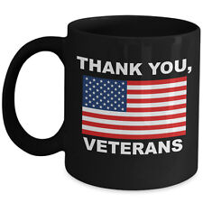 Thank You Veteran Day Coffee Mug for US A Army Soldier Navy Ranger Marine Gift