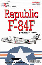Ms481276/Décalques-Republic f-84f - 614th FBS/401st dedoter - 1/48