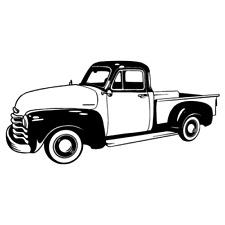 1952 Chevrolet 3100 Truck Clipart Vector Clip Art Graphics Dxf Svg Eps Ai Png
