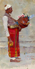 Arthur Streeton, Egyptian Drink Vendor 1897, Fade Proof HD Art Print or Canvas