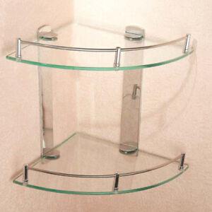 Glass Shelf Bathroom Accessories Wall Mounts Stainless Shower Caddy Storage Rack