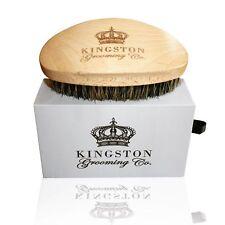 Kingston Grooming- 100% Natural Wooden Dual Boar Hair Bristle Beard Brush