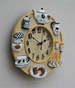 Wall Clock Kitchen School Office Home Shabby Chic Traditional Decor Quartz 23cm